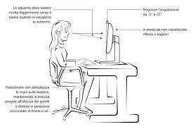 postura corretta scrivania how to evitare affaticamento e problemi alla vista davanti al