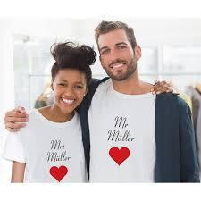 hochzeitsgeschenke standesamt partner t shirts mr und mrs mit namen