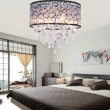 sparkling master bedroom lighting idea using decorative light