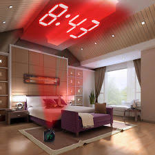 bedroom voice voice lcd screen alarm digital clock time wall ceiling projection