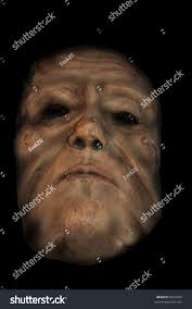 evil face hollow black eyes halloween stock photo 6072334