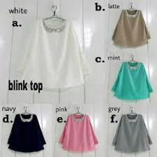 blouse wanita pusat grosir baju wanita blouse wanita blink top 072510