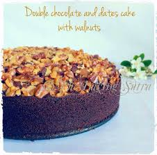double chocolate and dates cake with walnuts recipes pinterest