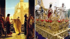 imagenes de jesus ante pilato san benito emulará el cuadro de ciseri jesús ante pilato en el
