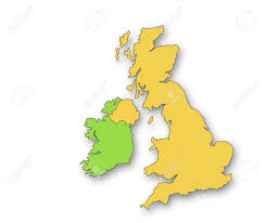 Map Of The United Kingdom Outline Map Of The United Kingdom And Eire Drop Shadow On White