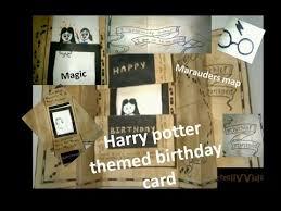diy harry potter themed birthday card ii marauders map ii magic