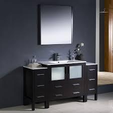 18 Bathroom Vanity by Fresca Bari Espresso Common 60 In X 18 In Undermount Single