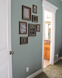 Livingroom Wall Colors Paint Color Valspar Blue Arrow Dark Rustic Frames Hobby Lobby