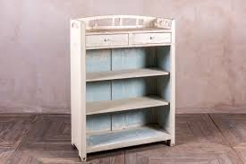 vintage bookcase with shabby chic paintwork