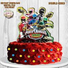 power rangers cake toppers power rangers cake topper works as centerpiece sided