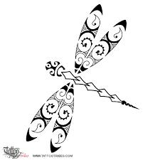 tattoo of maori style dragonfly maori series air tattoo custom