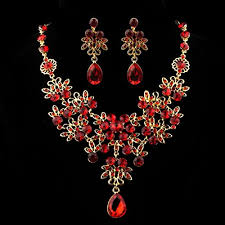 red necklace women images Ikevan hot selling necklace women prom wedding bridal jewelry jpg