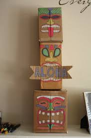 i made this tiki totem for our blue and gold banquet luau