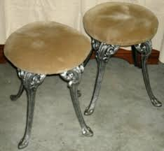 Metal Vanity Stool Thetrinketbox Antiques Collectibles Art Furniture Dolls