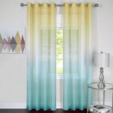 turquoise blue sheer curtains home decoration ideas