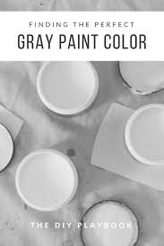 tips to find the perfect gray paint color for your walls