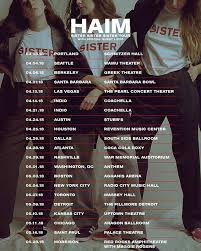haim poster haim tour part 1 more info at
