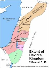 Biblical Map Of The Middle East the extent of king david u0027s kingdom 2 samuel 8 10 biblical