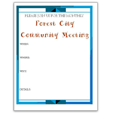 meeting flyer template 5 microsoft publisher flyer templates for