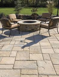 Natural Stone Patio Ideas Great Stone Paver Patio With Natural Stone Seating Walls In The