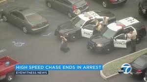halloween city south gate suspect armed with ak 47 apprehended after police chase through la