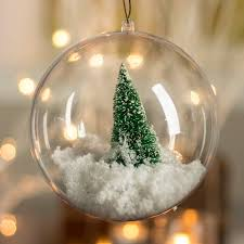 136mm clear acrylic fillable ornament acrylic fillable