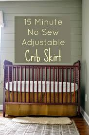 a nurse and a nerd 15 minute no sew adjustable crib skirt