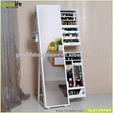 Jewelry Storage Cabinet Wooden Jewelry Storage Cabinet With Full Length Floor Mirror With