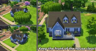 Landscaping Ideas For Front Of House by Building For Beginners In The Sims 4 Landscaping