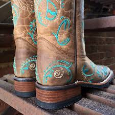 womens square toed boots size 12 corral circle g s turquoise dragonfly embroidery square