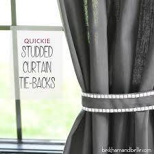 diy studded curtain tie backs beckham belle