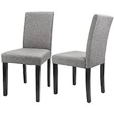 Dining Chair Fabric Amazon Com Merax Classic Fabric Dining Chairs With Solid Wood