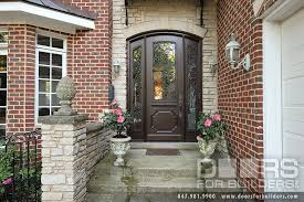 Solid Mahogany Exterior Doors Custom Solid Mahogany Wood Door With Two Sidelites And Wrought