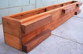 Rail Hanging Planters by The Carmel Planters Built To Last Decades Forever Redwood