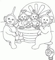 teletubbies coloring fablesfromthefriends