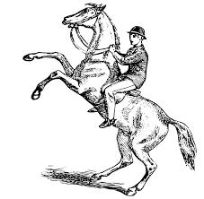 man riding a horse clipart clipartxtras