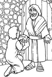 doubting thomas meet jesus christ colouring colouring tube