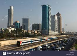 ayalon highway downtown tel aviv israel stock photo royalty free