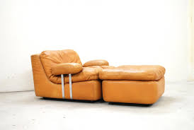 Lounge Ottoman Vintage Cognac Lounge Chair And Ottoman From Dreipunkt