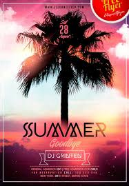 goodbye summer free flyer psd template flyer template photoshop