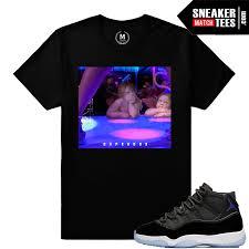 jordan space jams jordan 11 space jams t shirt matching sneaker match tees