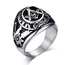 rings for men 2017 vintage masonic rings for men silver black design stainless