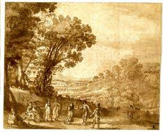 rev william gilpin landscape with a lake and ruins a tree in the