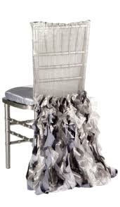 silver chair covers gray silver wildflower linen