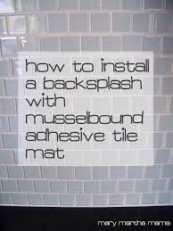 How To Install A Kitchen Backsplash Video Tiling The Backsplash With Musselbound Tile Mat U2013 Mary Martha Mama