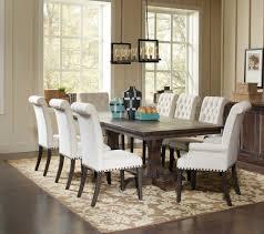 weber 9 piece rectangular extension dining table set 107281