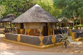 picture of traditional african house hut bakwena tribe southern