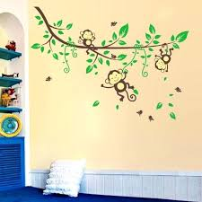 Nursery Monkey Wall Decals Jungle Wall Decals Monkey Wall Sticker Baby