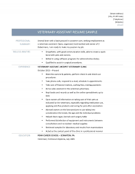 retail assistant resume example veterinary resume corybantic us veterinary assistant resume samples tips and templates veterinary resume