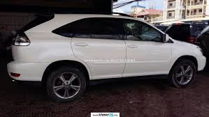 lexus rx 400h pictures lexus rx 400h 2006 white half full new tax and paper in phnom penh